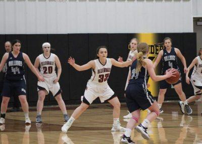 Photo of girls basketball game