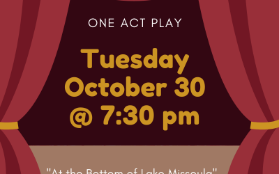 One-Act Play Public Performance – October 30!
